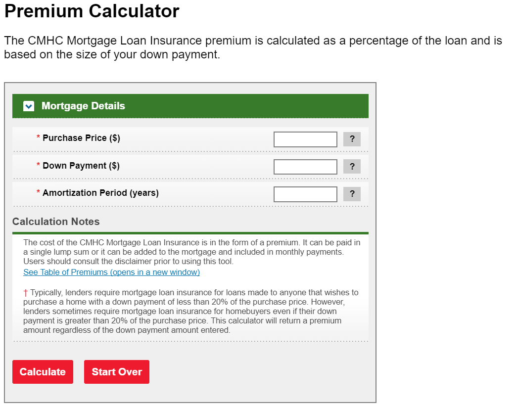 Mortgage Calculator Canada  Calculate Mortgage Payment